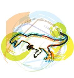Abstract dinosaur vector