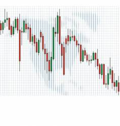Business charts candle vector