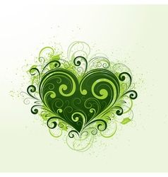 Green heart vector