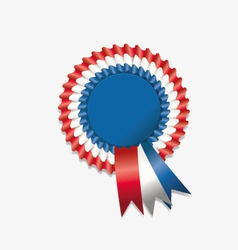 Tri color rosette ribbon vector