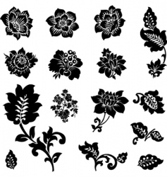 Cutout flowers vector