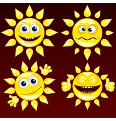 Funny sun vector