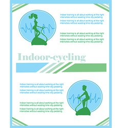 Indoor cycling flyer vector