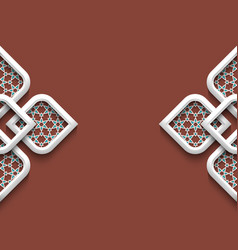 3d ornament in arabic style vector