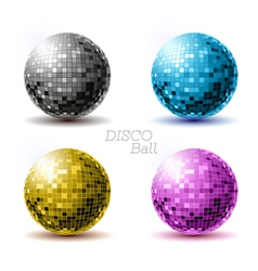 Set of disco balls vector