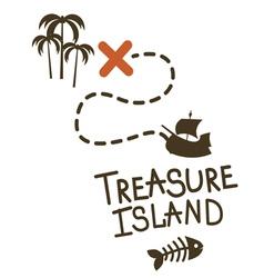 Treasure island game design vector