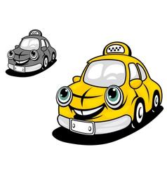 Cartoon yellow taxi vector