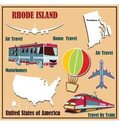 Flat map of rhode island vector