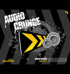 Audio grunge vector