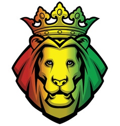 Lion rasta head vector