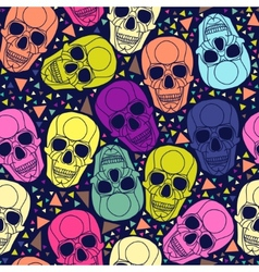 Skull with geometric polygonal ornament vector