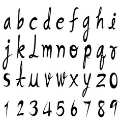 Lowercase font vector