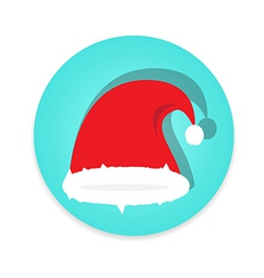 Santa claus cap on white background vector