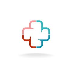 Medical cross logo vector