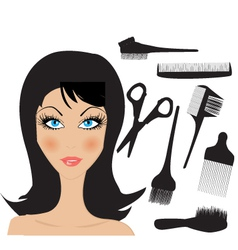 Hairdresser figure vector