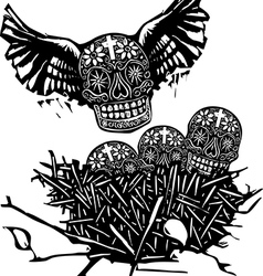 Flock of death vector