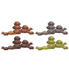 Rock piles vector
