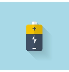 Flat web icon battery accumulator vector