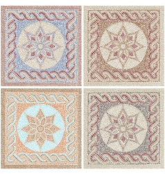 Antique mosaic vector