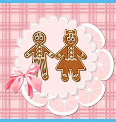 Gingerbread mans vector