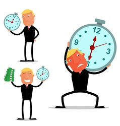 Businessman in a deadline vector