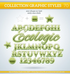 Ecologic graphic styles for design use for decor vector