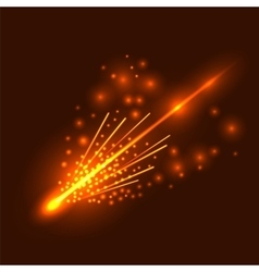 Falling meteor vector