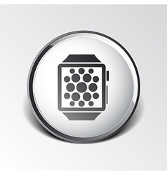 Watch phone icon tablet flat multimedia vector