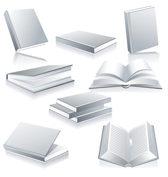 Blank book cover white isolated vector