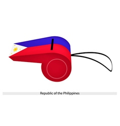 A whistle of republic of the philippines vector