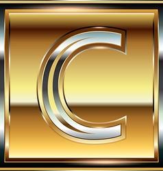Ingot font letter c vector