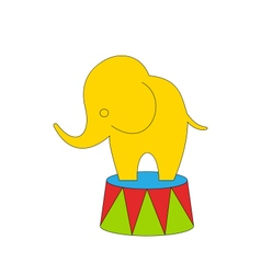 Cartoon circus elephant vector