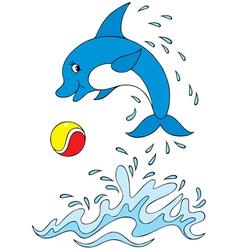Dolphin acrobat vector