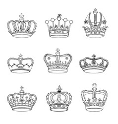 Crowns vector