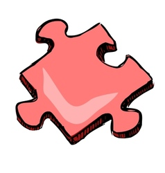 Piece of jigsaw puzzle vector