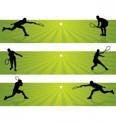 Tennis banners vector