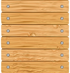 Pattern of wooden boards with screws vector