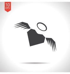 Winged heart icon eps10 vector