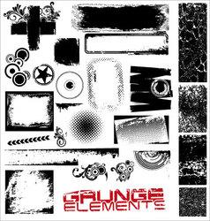 Grunge elements vector