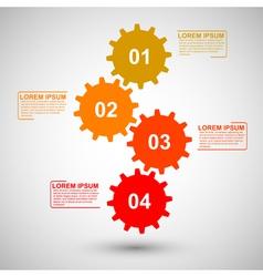 Gears infographic vector