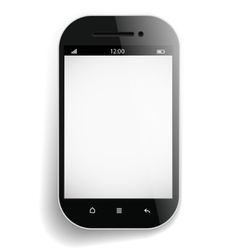 Photorealistic modern mobile phone template vector