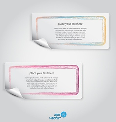 Colorful label vector