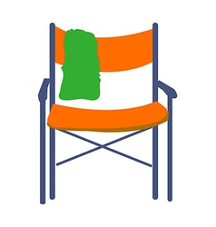 Patio chair vector