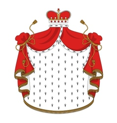 Heraldic royal mantle vector