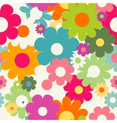 Seamless patten with flowers vector