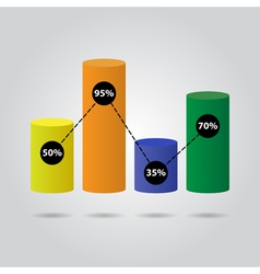 Color pie chart - with text vector