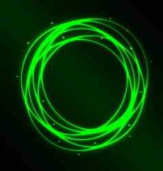 Abstract background with green plasma circle vector