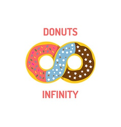Donut shop logo template vector
