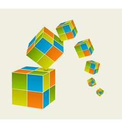 Falling cubes vector