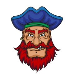 Old pirate captain vector